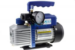 Pompa próżniowa 2 stopniowa 42 l/min R32 R1234yf z wakuometrem