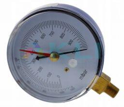 Wakuometr próżniomierz do manometrów lub pompy próżniowej fi 80