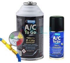 Zestaw do AcToGo do napełniania klimatyzacji plus spray do czyszczenia