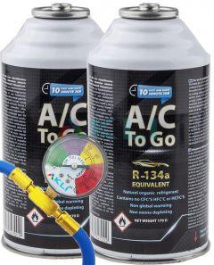 Podwójny zestaw do napełniania klimatyzacji samochodowej AcToGo R-134a