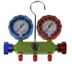 Zestaw manometrów Jakość R134a R404a R410a + węże 90cm