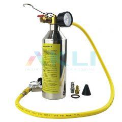 Cylinder do płukania klimatyzacji z manometrem