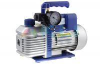 Pompa próżniowa 2 stopniowa 51 l/min z wakuometrem