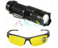 Lampa UV do szukania wycieków klimatyzacji z okularami